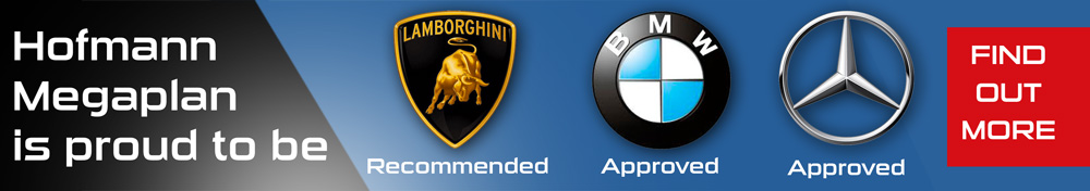 BMW, Merc & Lamborghini approved banner