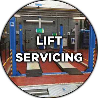 Lift servicing at Hofmann Megaplan