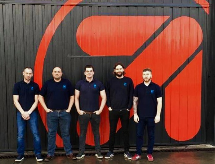 Pictured above Kevin Reynolds, Neal Stote, Luke John, Jon Horsley and Luke Rivett, Hofmann Megaplan Engineers currently on site at Cascos' manufacturing plant in Vitoria, Northern Spain.