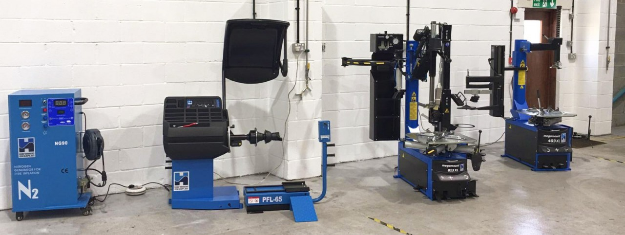 SCS Tyre Garage equipment line up from Hofmann Megaplan