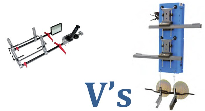 4 Wheel laser alignment equipment vs Optical Gauges equipment