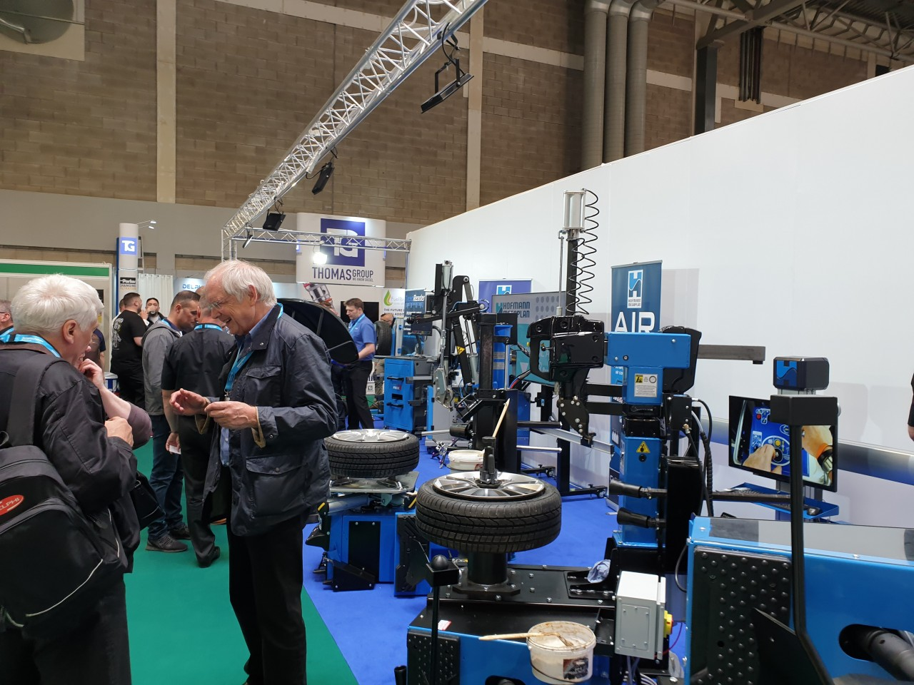 Automechanika 2019 show is in full swing at the Hofmann Megaplan stand - plenty of activity and demonstrations taking place to new and existing customers.