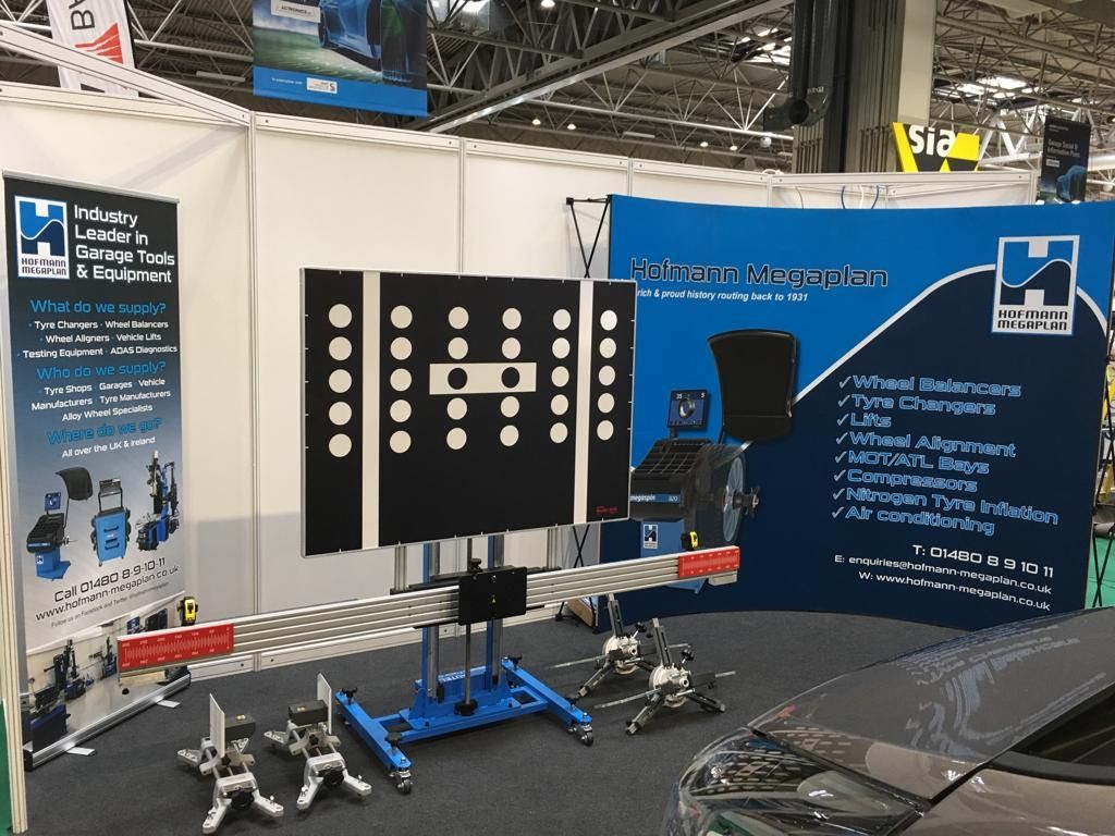 Our standard ADAS Calibration System on show on the showcase at Automechanika 2019.