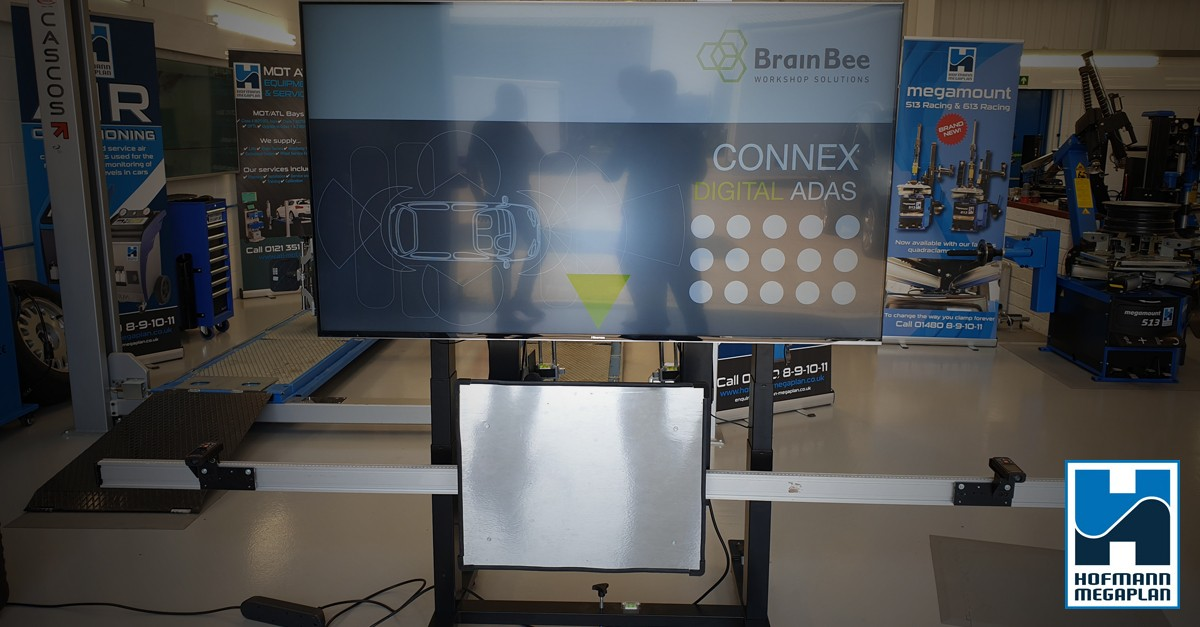 Digital ADAS calibrations systems brought to you by Brainbee and supplied by Hofmann Megaplan