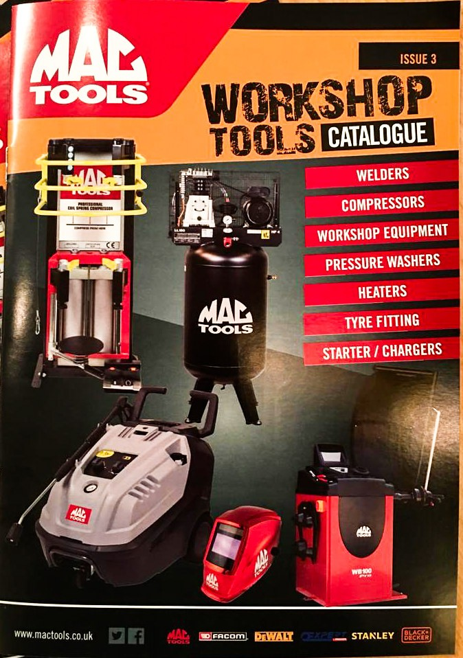 MAC TOOLS WB100 PRO FEATURING ON THE COVER OF THE MAC TOOLS WORKSHOP TOOLS CATALOGUE