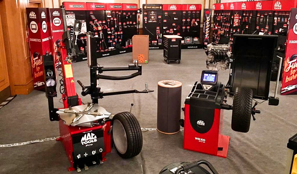 Garage Equipment line up from Mac Tools, supplied by Hofmann Megaplan