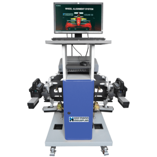 Ecoline 58 Wheel Aligner with screen by Hofmann Megaplan