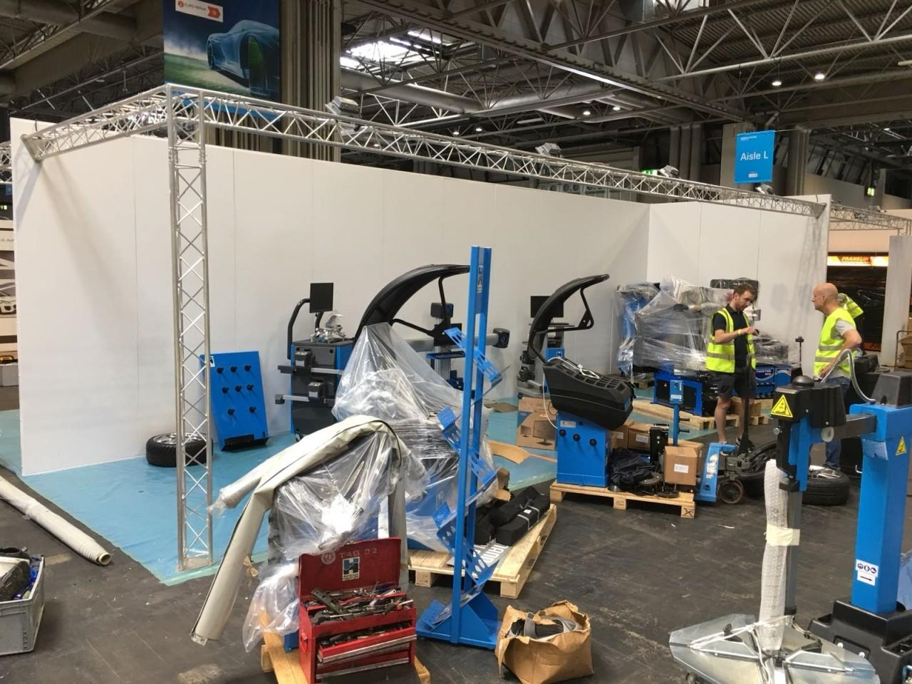 Arrival of Equipment at Automechanika 2018
