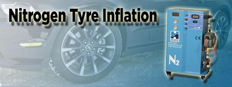 Nitrogen tyre inflation header