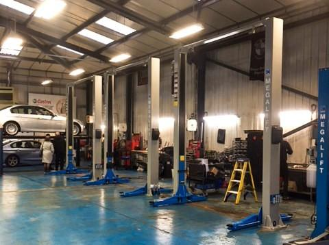 Vehicle Lift Install by Hofmann Megaplan in Derby