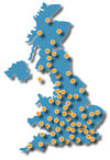UK Map of Hofmann Megaplan service