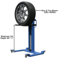 WC200 Portable Wheel Lifter (Pneumatic)